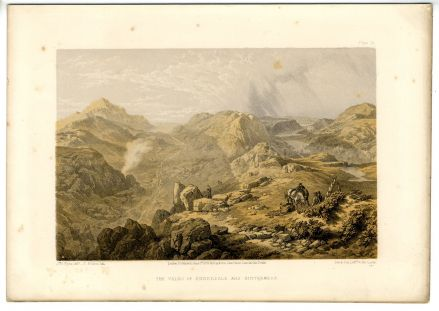 1859 VALE of ENNERDALE & BUTTERMERE Antique Print by J. B. PYNE
